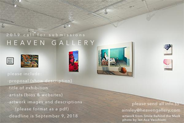 Call for Submissions Extended & Opening Receptions 9/14 | Heaven Gallery