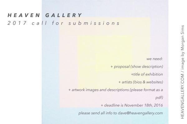 Heaven Gallery 2017 Art Submissions | Heaven Gallery